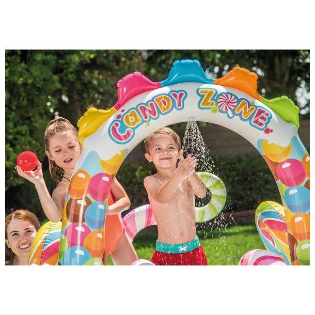 57149EP-U-A Intex  Kids Candy Zone Play Center Splash Pool w/ Waterslide (Open Box) (2 Pack) 4