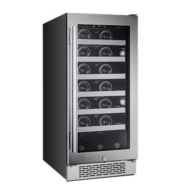 AWC151SZLH + AWC151SZRH Avallon 15 Inch Left & Right 27 Bottle Dual Zone Wine Cooler, Stainless Steel 4