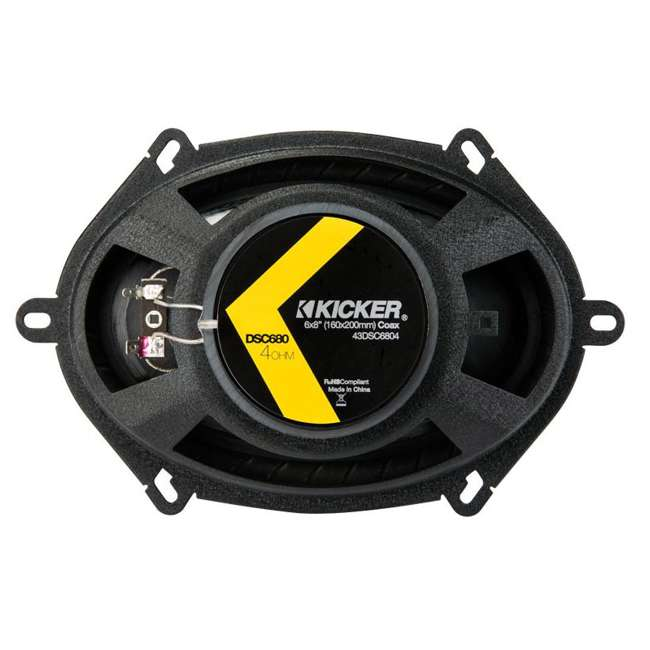 43DSC6804 4) Kicker 43DSC6804 D-Series 6x8-Inch 200W Speakers  5