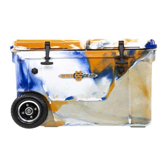 HC50-17ONW WYLD HC50-17ONW 50 Qt. Dual Compartment Insulated Cooler w/ Wheels, Orange/Blue 2
