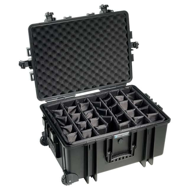 6800/B/RPD B&W International 6800/B/RPD 70.9 L Plastic Outdoor Case w/ Wheels & RPD Insert 2