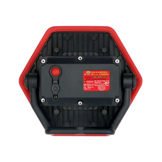 3 x MXN05000 Maxxeon Workstar 5000 Lumenator Commercial Grade LED Work Light, Red (3 Pack) 2