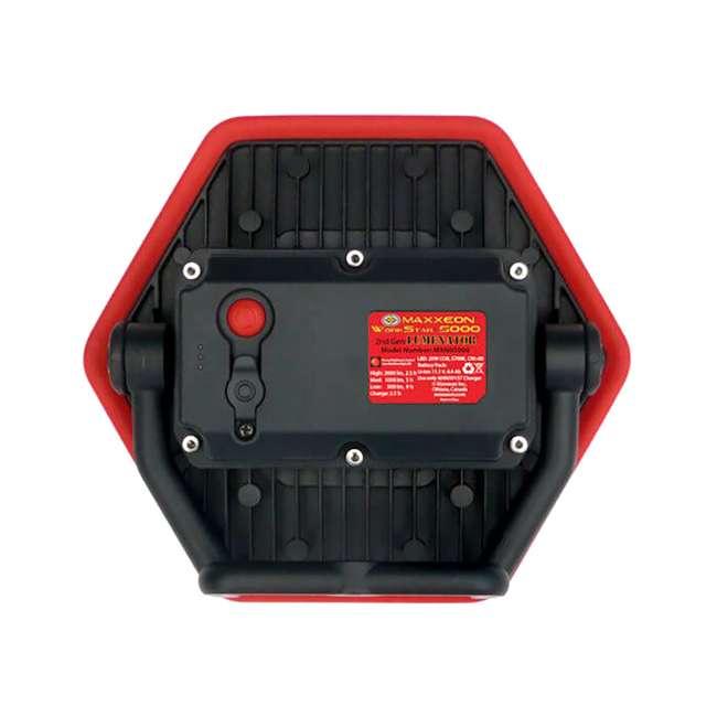 4 x MXN05000 Maxxeon Workstar 5000 Lumenator Commercial Grade LED Work Light, Red (4 Pack) 2
