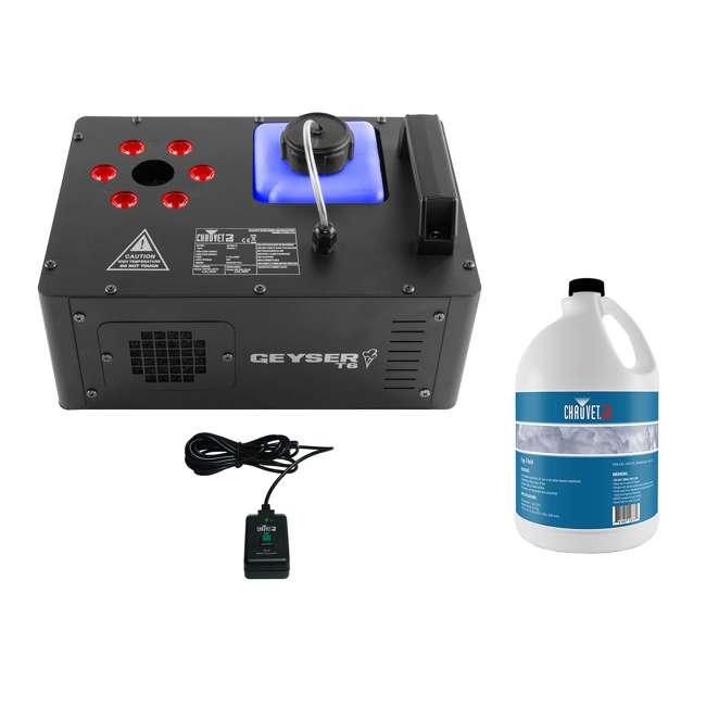 GEYSER-T6 + FJU Chauvet DJ Geyser T6 Fog Machine and LED Light Effect with Fog Fluid