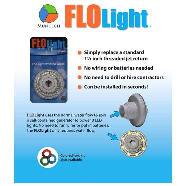 FLO-LIGHT-U-B LED Above Inground Swimming Pool Flo Light Universal Return FloLight (Used) 3