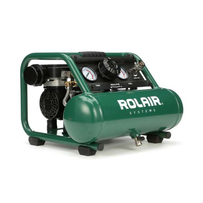 AB5PLUS Rolair AB5PLUS 1 Gallon 0.5HP 90 PSI Quiet Portable Pump Electric Air Compressor
