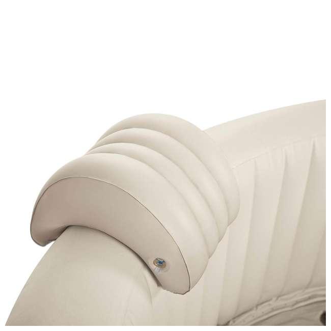 28505E + 28409E + 28500E Intex 28409E Pure Spa 6-Person Hot Tub, Headrest And Cup Holder 6