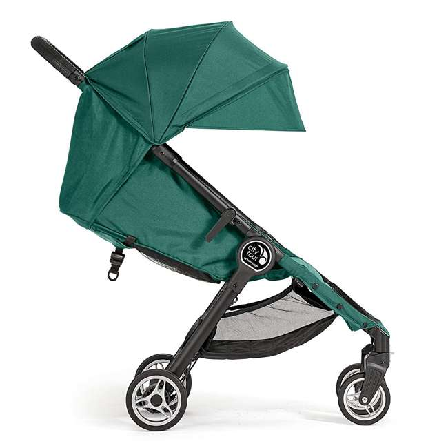1980173 Baby Jogger City Tour Lightweight Compact Travel Stroller with Carry Bag, Green 2
