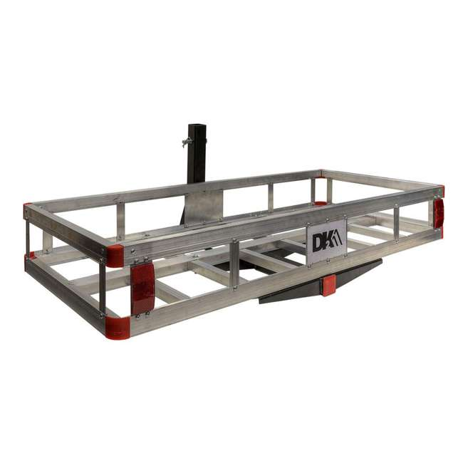 HCC502A Detail K2 HCC502A 500 Pound Trailer Hitch Mounted Aluminum Cargo Carrier Rack