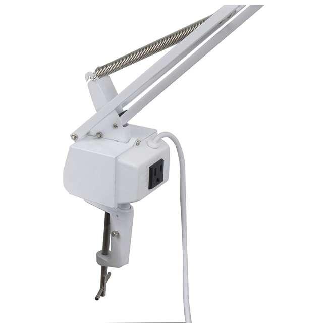 12044 Studio Design 12044 Metal Combo Dual Light LED Studio Drawing Artist Lamp, White 2