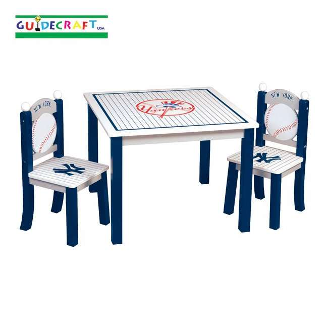 G11713 Guidecraft Yankees Table & Chairs Set