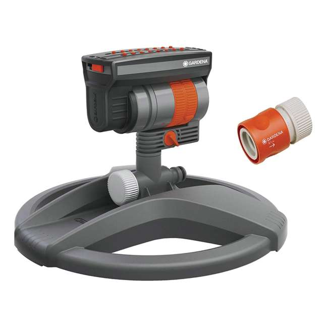 GARD-84-BZMX Gardena ZoomMaxx Oscillating Sprinkler and Base