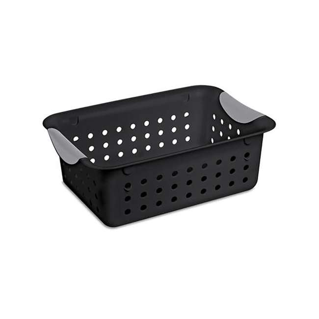 12 x 16229012 Sterilite Ultra Small Home Organization Storage Basket w/ Holes, Black (12 Pack) 1