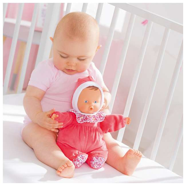 """FBD05 + FRN90 Corolle Mon Doudou Babipouce Floral Bloom 11"""" Soft Body Doll and Canopy Stroller 4"""