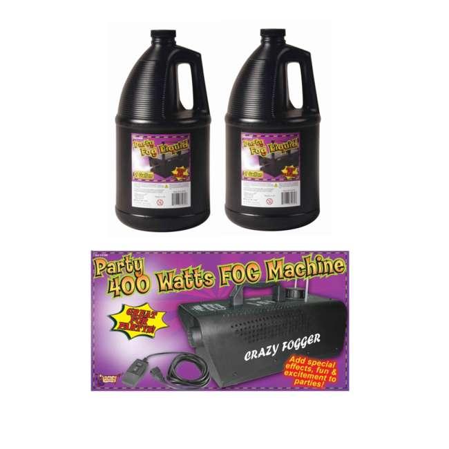 61066 + 2 x 61070 Halloween 400w Haze Fog Machine & Remote with 2 Gal. Fluid (Pair) 1
