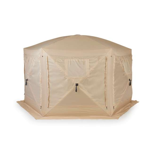 CLAM-PV-114244 + CLAM-PV-FLOOR-12878 Clam Quick Set Portable Canopy + Floor Tarp Attachment 3