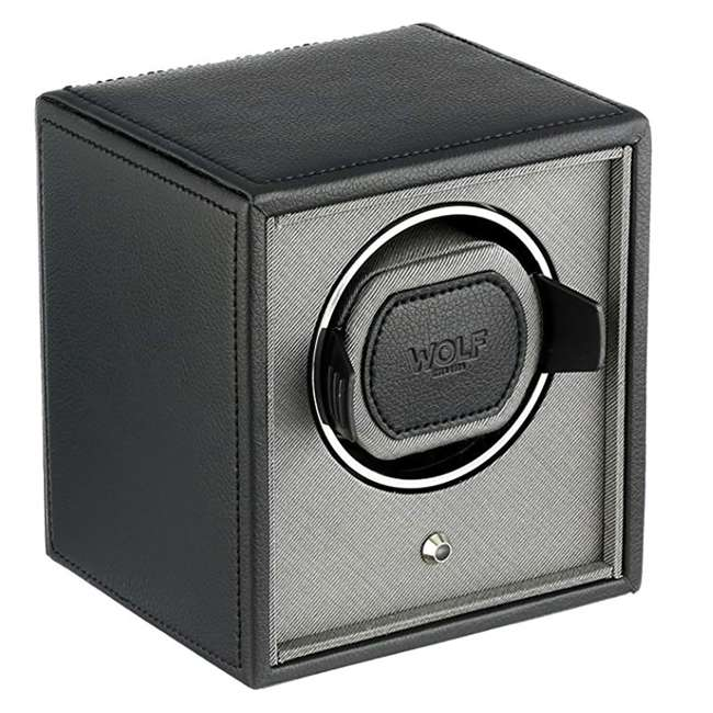 455203 WOLF 455203 Howard Cub Compact Electric Single Watch Winder Case with Cover