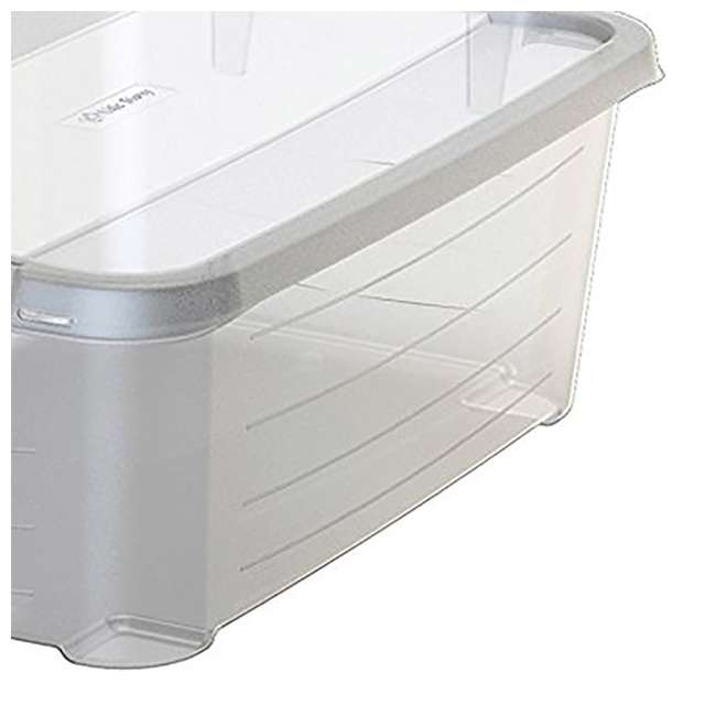 CS-12-U-A Life Story Clear Stackable Storage Container, 14 Quart (Open Box) (2 Pack) 4
