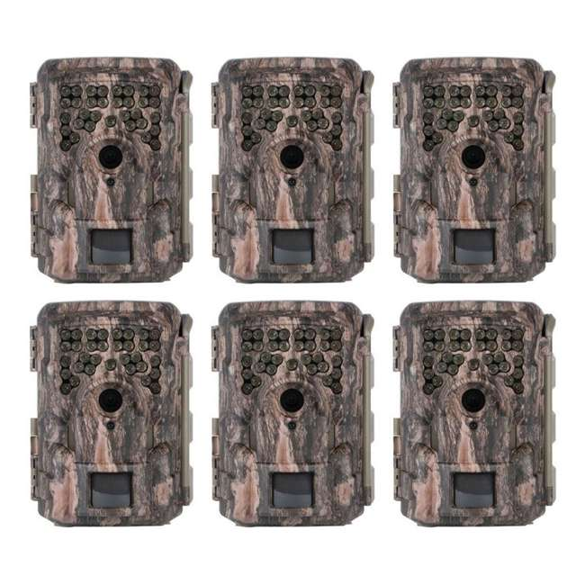 6 x MCG-13332 Moultrie M8000i Invisible Flash Mobile Compatible Game Hunting Camera (6 Pack)