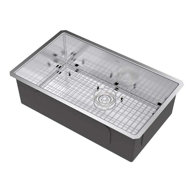 KHU100-32-OB Kraus 32-Inch Rectangular Undermount Stainless Steel Kitchen Sink (OPEN BOX) 1
