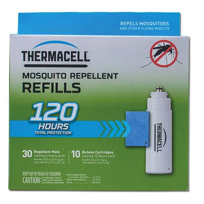 R-10 Thermacell 120-Hour Mosquito Repellent Refill Packs w/ 30 Mats & 10 Cartridges