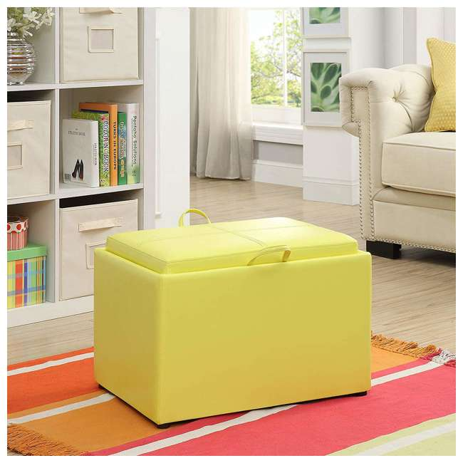 R8-160 Convenience Concepts R8-160 Designs4Comfort Accent Storage Space Ottoman, Yellow 4