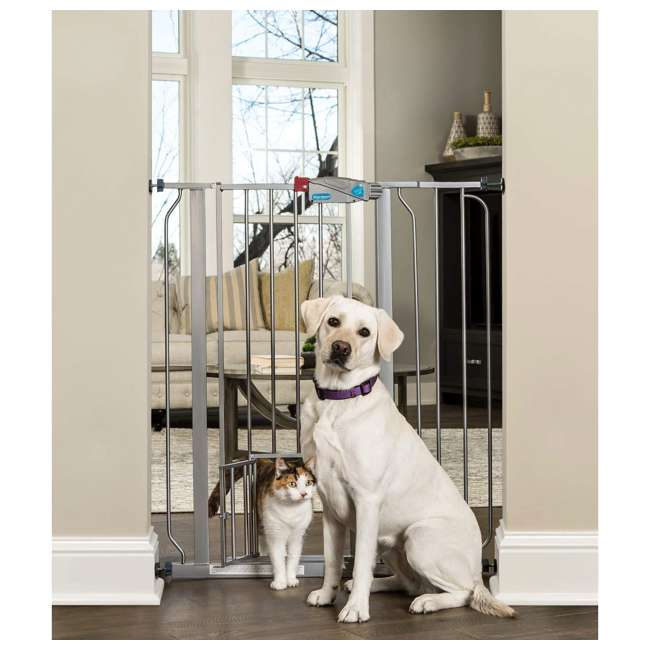 """0941 PP DS Carlson Pet Products 36"""" Extra Tall Expandable Pet Gate, Platinum 1"""