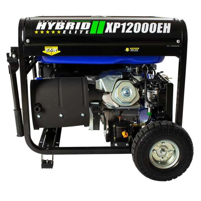 XP12000EH + XPLGC DuroMax 12000 Watt Portable Hybrid Generator & Generator Cover, Black 6