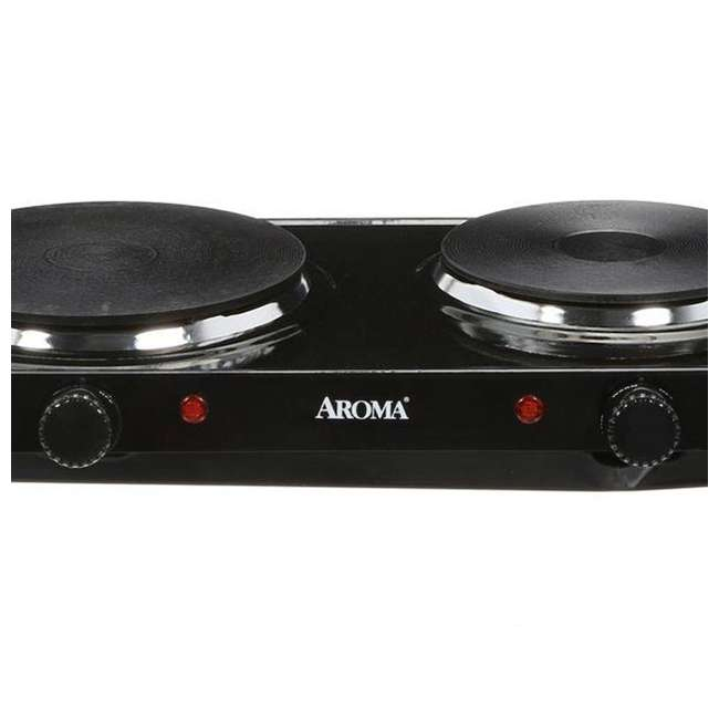 AHP-312 Aroma Cast-Iron Double Burner Hot Plate (2 Pack) 4