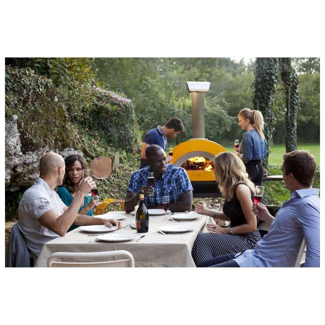 FXALLE-LGIA Alfa FXALLE-LGIA Allegro Outdoor Steel Italian Pizza Wood Oven with Base, Yellow 8