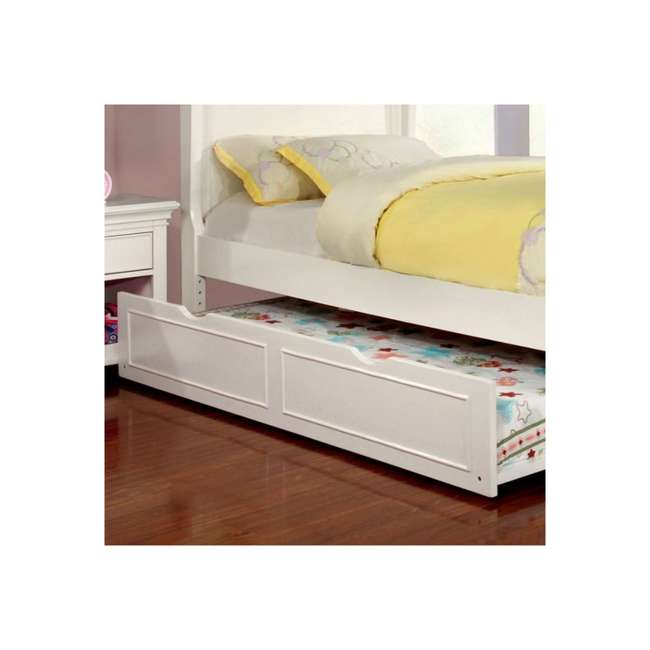 IDF-7943WH-TR-U-A Furniture of America Transitional Child Wood Trundle Only, White (Open Box) 3