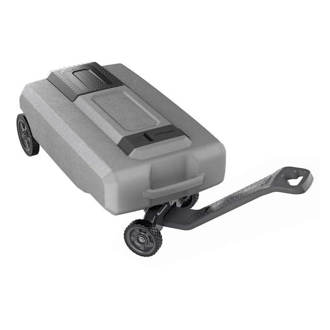 40518 SmartTote2 40518 LX 4 Wheel 27 Gallon Portable RV Sewage Waste Tank Tote Carrier