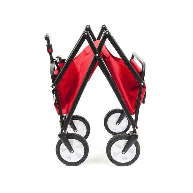 SUW-200-RED-U-A Seina Compact Folding Outdoor Utility Cart (Open Box) (2 Pack) 1