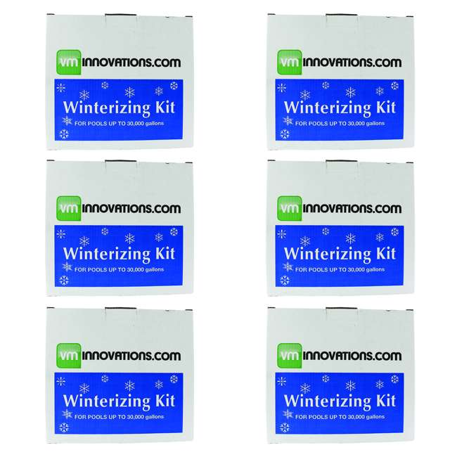 6 x CLOSEKIT-30K VMInnovations Swimming Pool Winterizing Chemical Treatment Closing Kit (6 Pack)