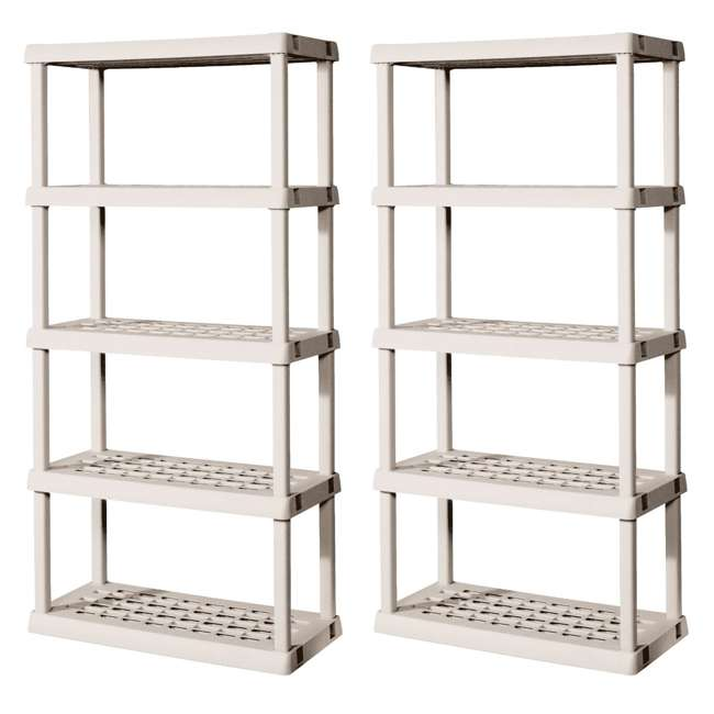 2 Sterilite 01558501 Heavy Duty 5-Shelf Shelving Ventilated Upright Storage Unit (Pair)  sc 1 st  VMInnovations & 2 Sterilite 01558501 Heavy Duty 5-Shelf Shelving Ventilated Upright ...