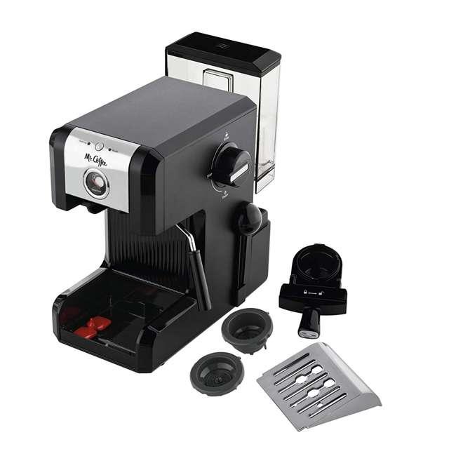 BVMCECMPT1000 Mr. Coffee Easy Maker Authentic Espresso Machine w/ Auto Tamp Technology, Black 2