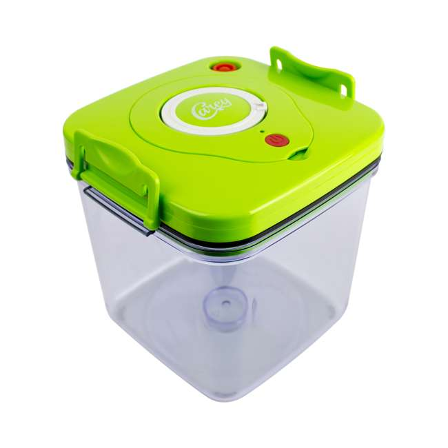 VCA-86 Chard Carey VCA-86 Battery Operated Vacuum Pump Lid Canister Medium Size, Green