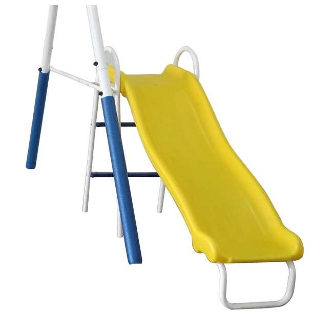XDP-74303 + XDP-70113 XDP Blue Ridge Play Backyard Swing Set with Slide + Anchor Kit 3