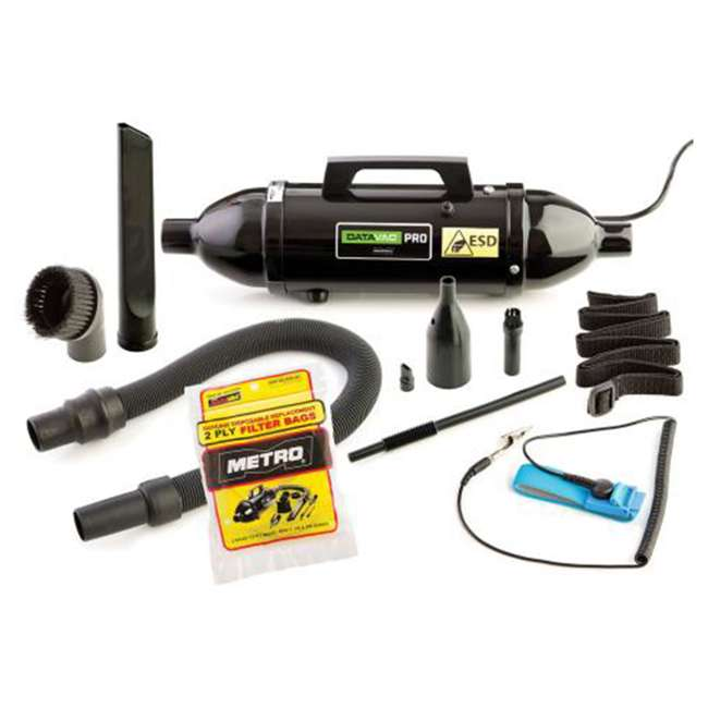 MDV-1ESD MetroVac DataVac ESD Safe Pro Series Vacuum and Blower Black