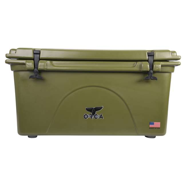 ORCG075 Orca ORCG075 75 Quart 15 Gallon Roto Molded Insulated Outdoor Ice Cooler, Green
