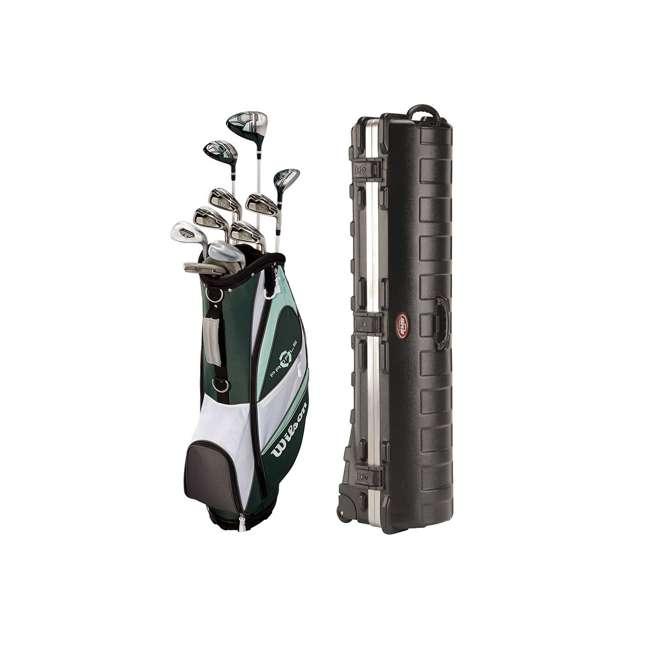 WGGC4380L + 2SKB-1649W Wilson Women's Left Handed Golf Club Set & Wheeled Travel Case