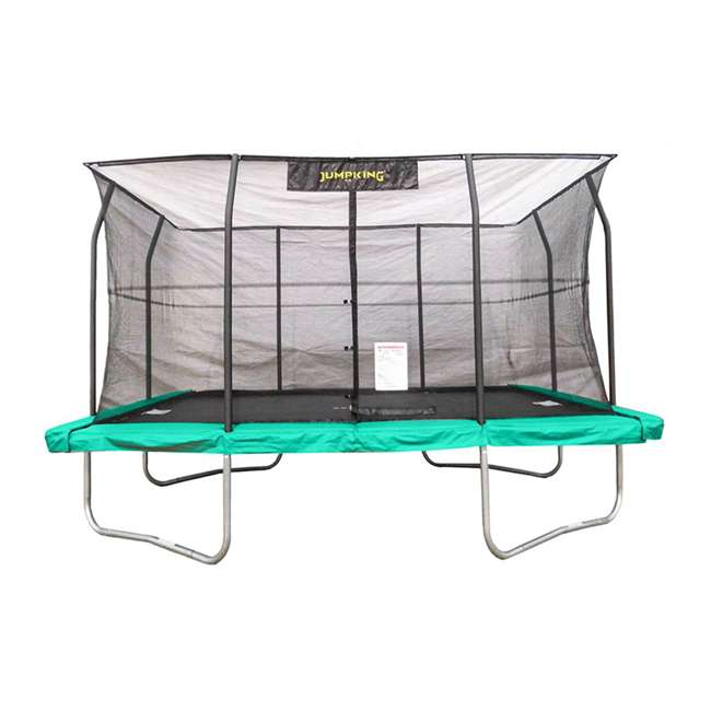 JKRC1014C2-BOX1+JKRC1014C2-BOX2+JKRC1014C2-BOX3 JumpKing Trampoline w/ Safety Net and XDP Recreation Metal Anchor Kit 1