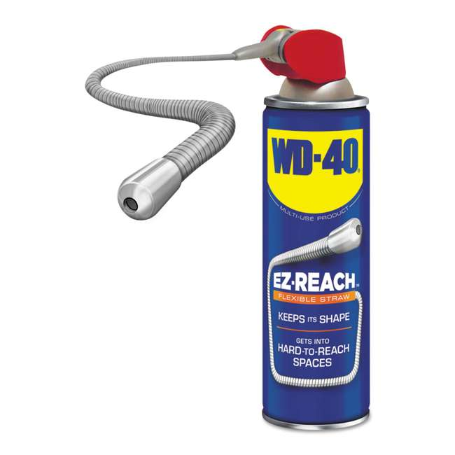 """WD-490194 WD-40 490194 Multi Use Lubricant Spray with 8"""" EZ-Reach Attachment, 14.4 Ounce"""
