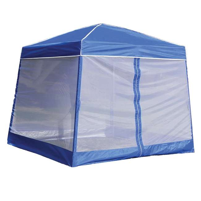 4 x ZS1SR10AL-U-B  Z-Shade 10 Foot Screenroom Shelter, Blue (Canopy Not Included) (Used) (4 Pack) 2