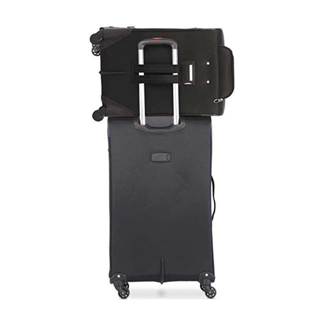 AERO9970 BLACK 21 FBA Aerolite Maximum Allowance Heavy Duty Airline Approved Carryon Suitcase, Black 2