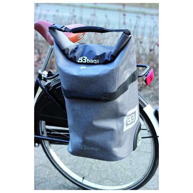 96400/white B&W International B3 Luggage Bicycle Bag w/ Wheels and Telescoping Handle, White 5