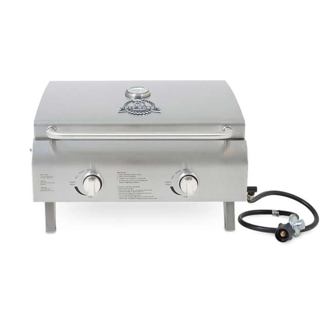 75275 Pit Boss Grills 2-Burner Portable Propane Grill, Silver
