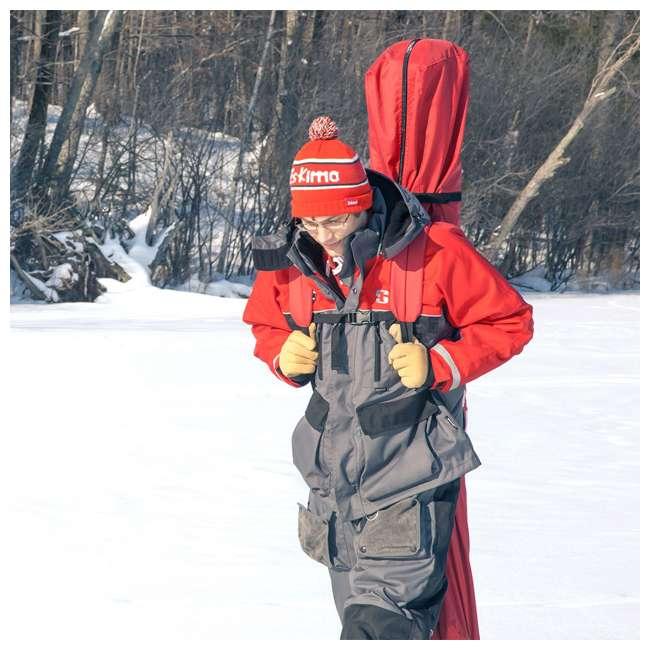ESK-FF9416-U-B Eskimo FatFish Portable 7-9 Person Pop Up Ice Fishing Shanty Shelter Hut (Used) 2