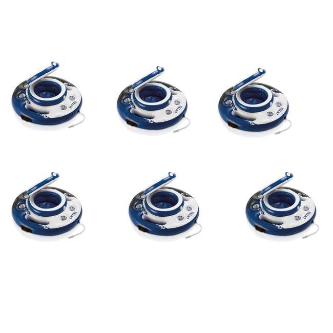 6 x 56822EP Intex Mega Chill Inflatable Floating Beverage Cooler (6 Pack)