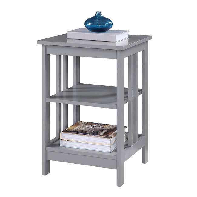 S20-250 OMA - Convenience Concepts 203385GY End Table, Gray 3